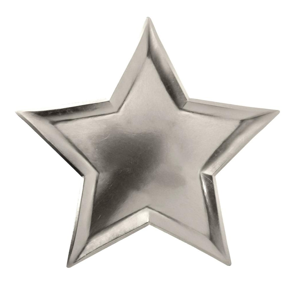 Star Silver Foil Plates from The Party Darling