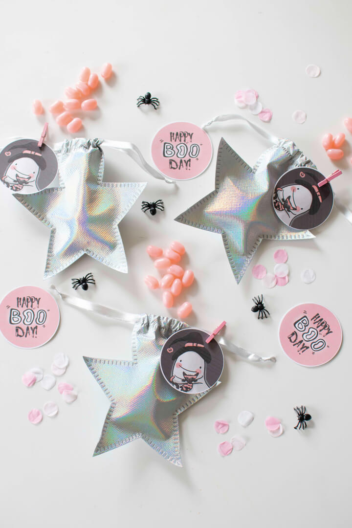 Star Favor Bags from Spooky Pink Halloween Party Featuring Daydream Society In Collaboration with Twinkle Twinkle Little Party | Black Twine