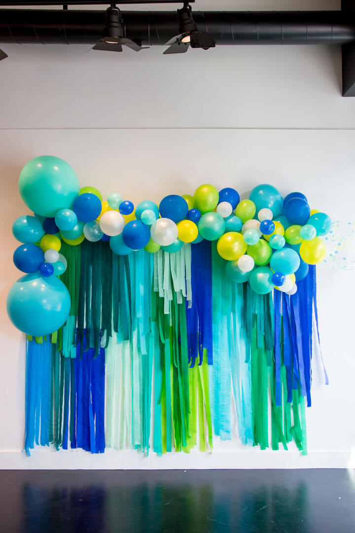 Balloon Garland from Modern Art Gallery Party In Collaboration with Amy Tangerine | Black Twine
