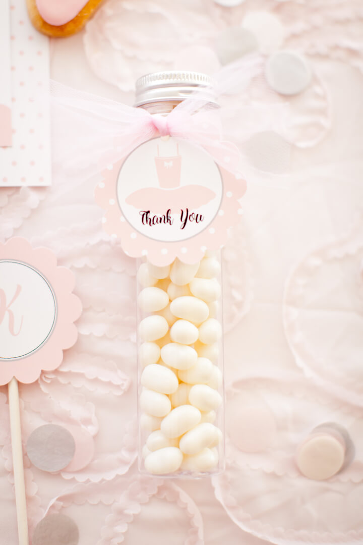 Favor Candies from Ballet Party Styled by Kiss Me Kate Studio | Black Twine