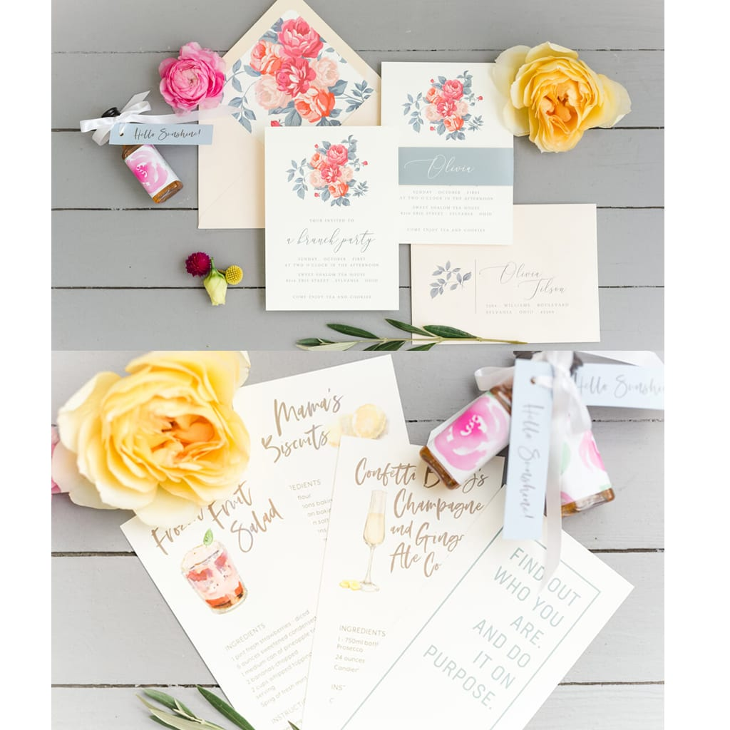 Invitation, recipe, and quote cards - Upper Case Designs