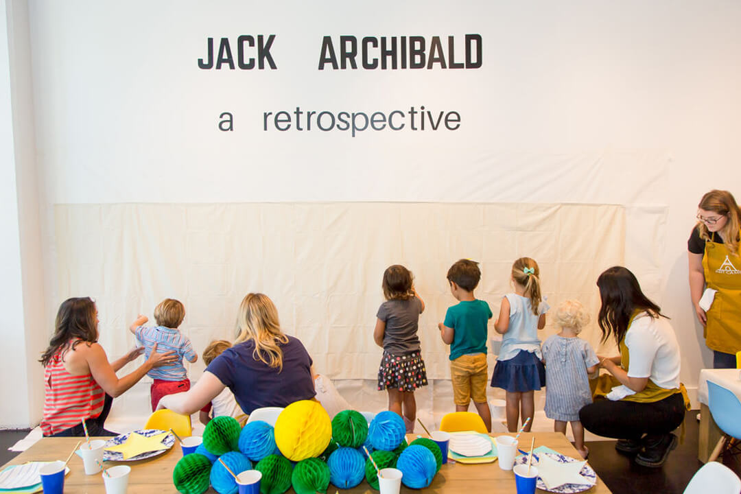 Jack Archibald Wall from Modern Art Gallery Party In Collaboration with Amy Tangerine | Black Twine