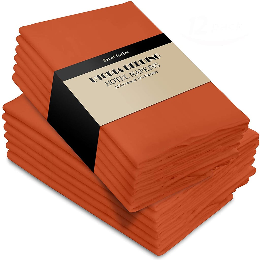 Orange Cloth Napkins
