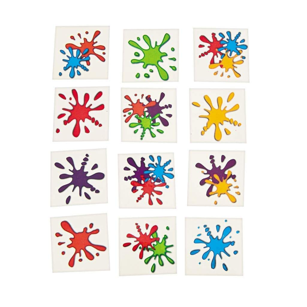 Paint Splatter Temporary Tattoos