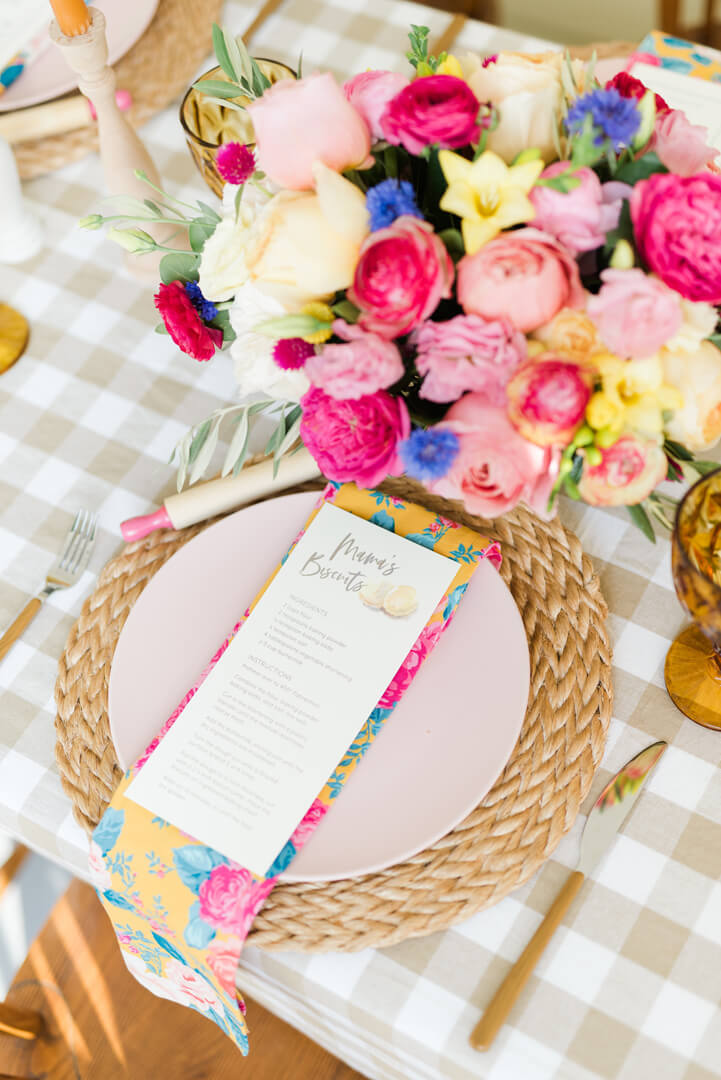 "Place Setting from ""Whiskey in a Teacup"" Ladies Brunch Styled by Event Prep 
