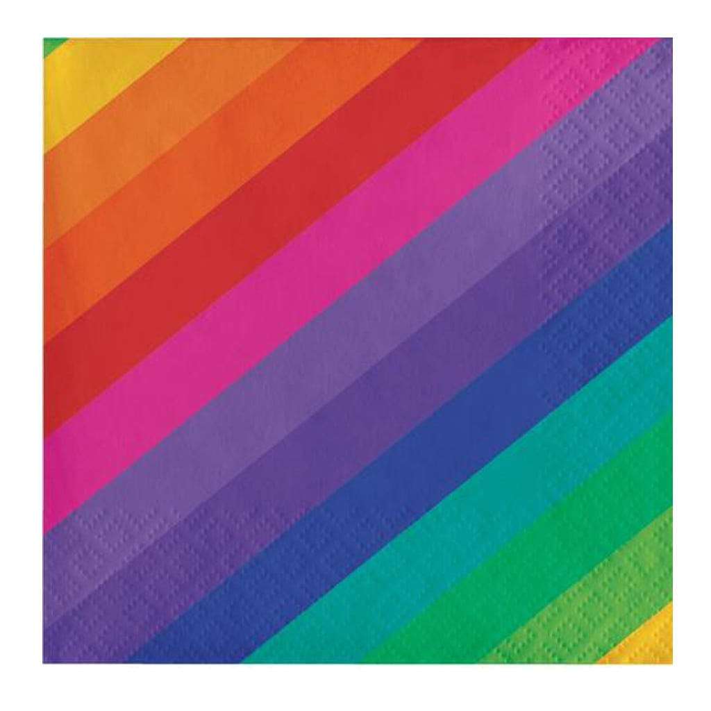 Rainbow Striped Napkins - Geese & Ganders