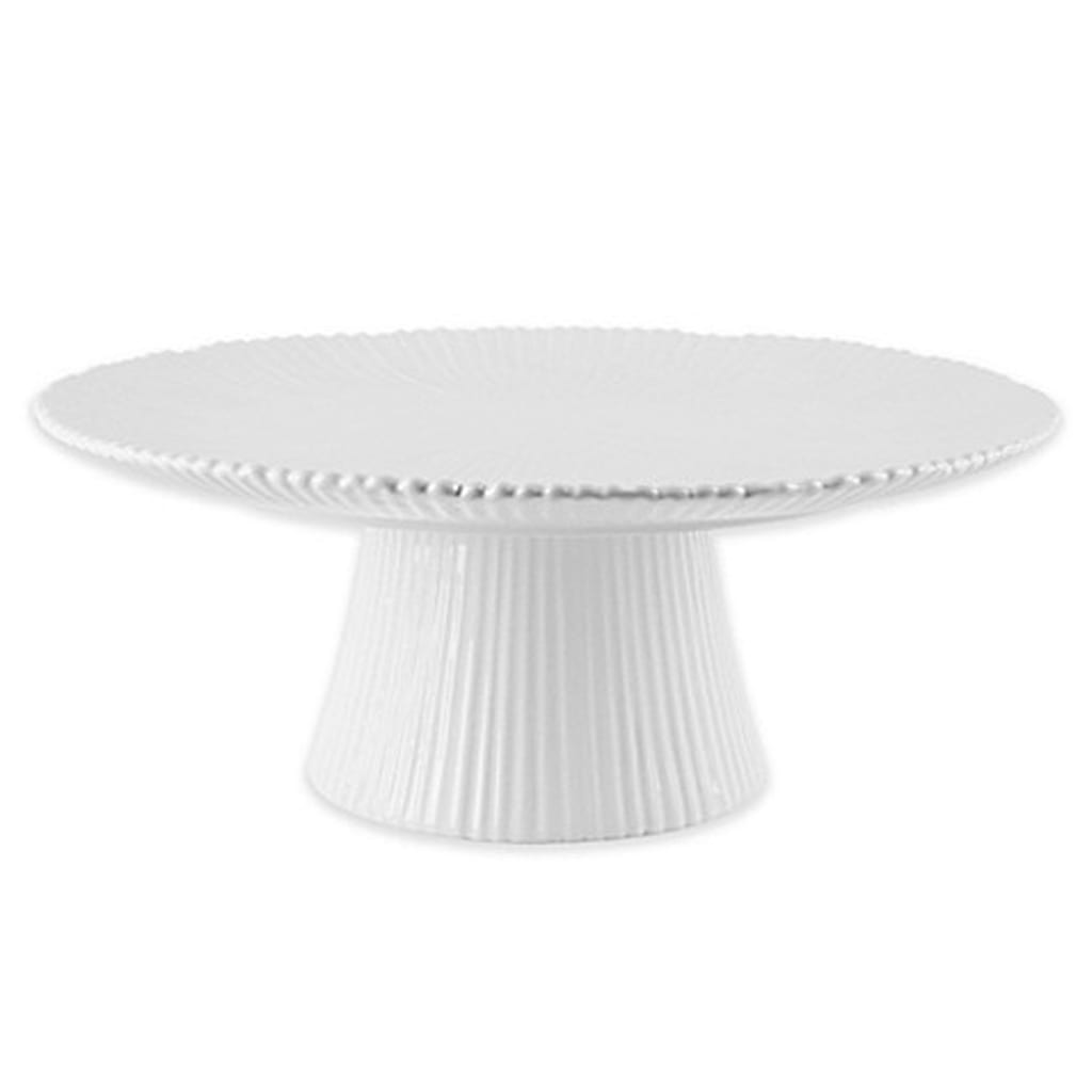 "12"" Round Ribbed Cake Stand - Home Essentials & Beyond"
