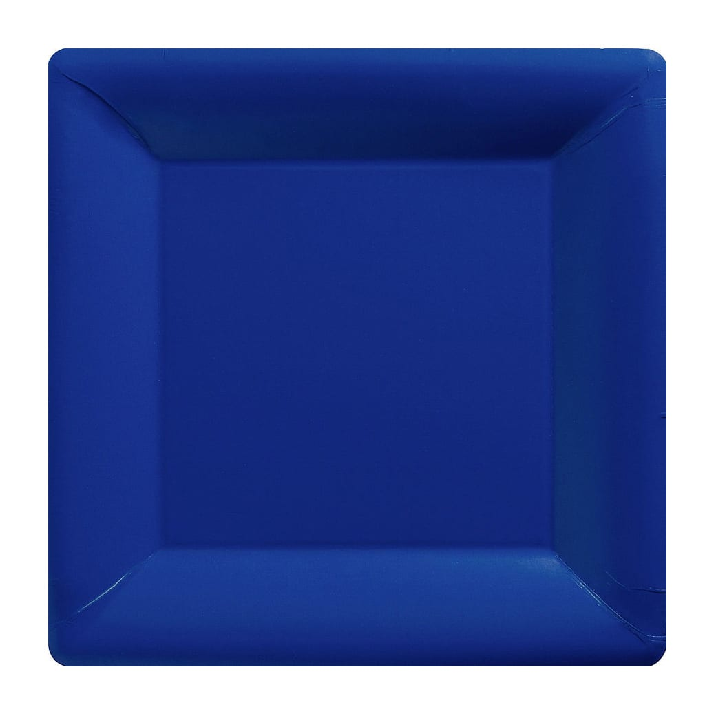 Blue Square Dinner Plates - Party City