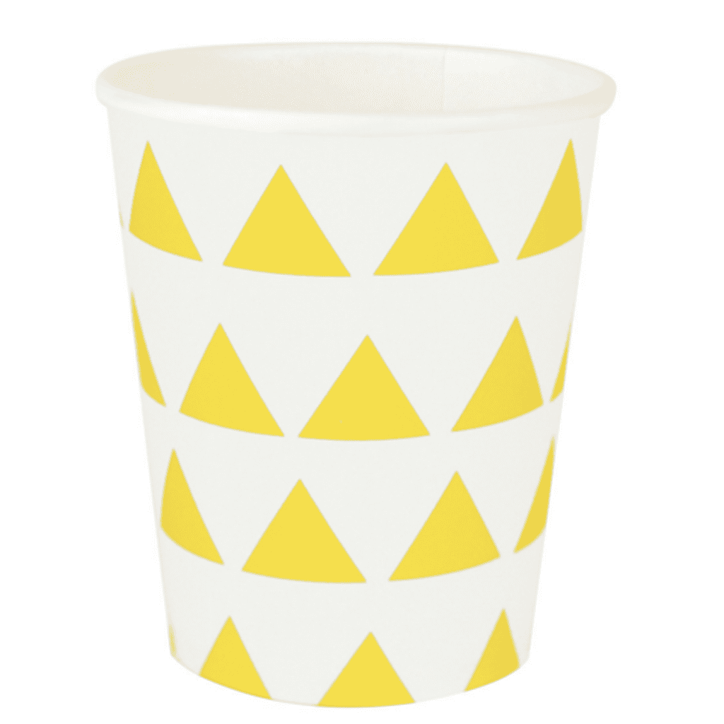 Yellow & White Triangles Cups - Geese & Ganders