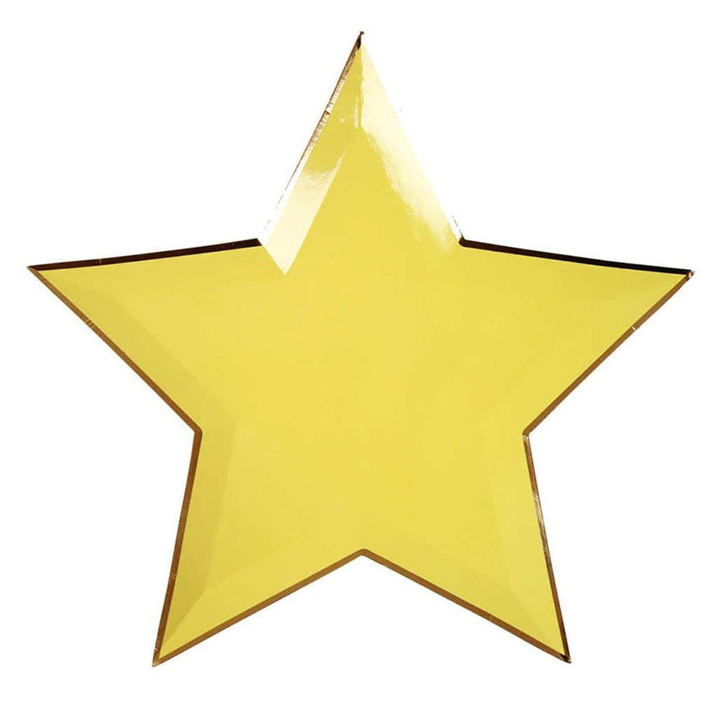 Yellow Star Plates