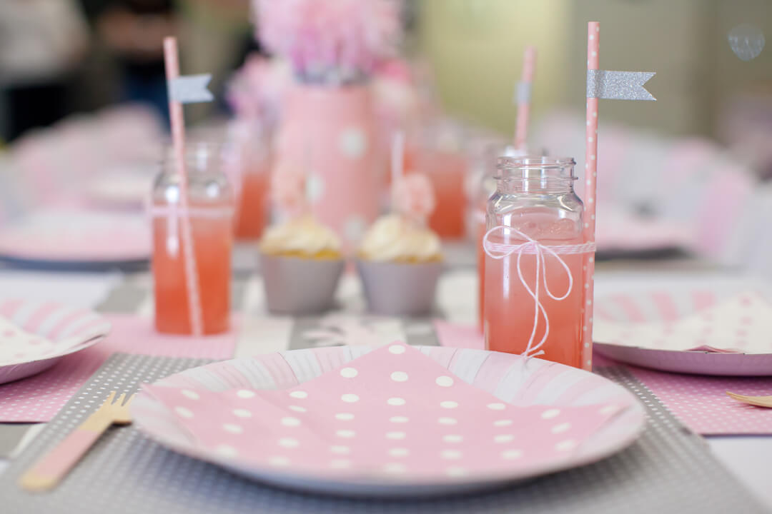 Place Setting, Juice Glass from Ballet Party Styled by Kiss Me Kate Studio | Black Twine