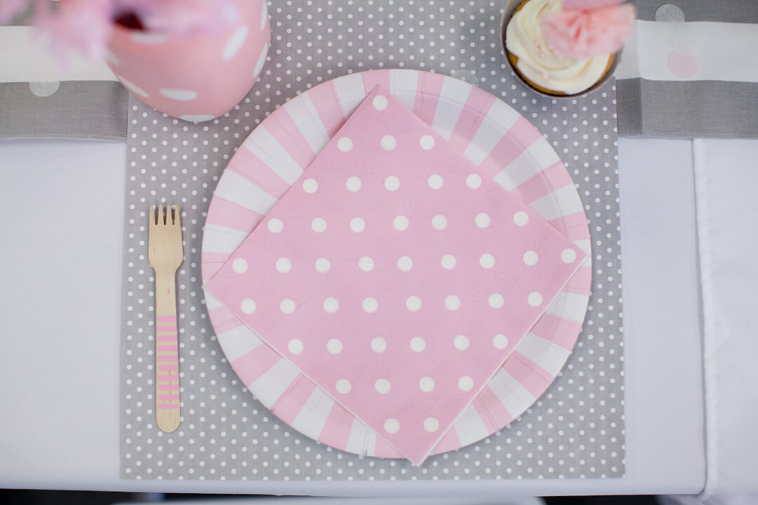 Place Setting from Ballet Party Styled by Kiss Me Kate Studio | Black Twine