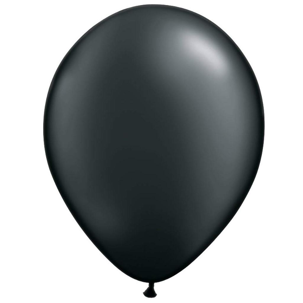 "Black 11"" Balloons"