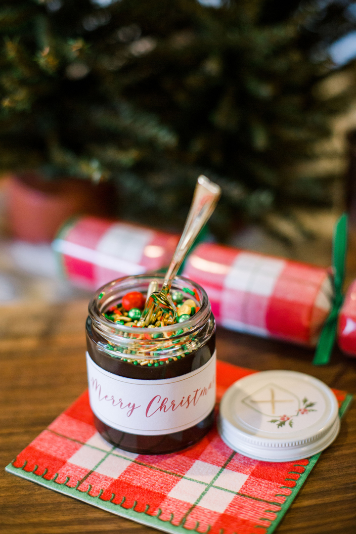 "Chocolate Sprinkle Spread from ""Apres at The Lodge"" Holiday Party Styled by The Revelry Co 