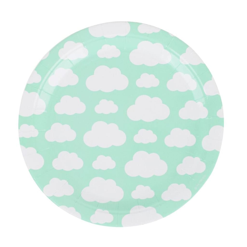 Cloud Party Plates from the party dialect