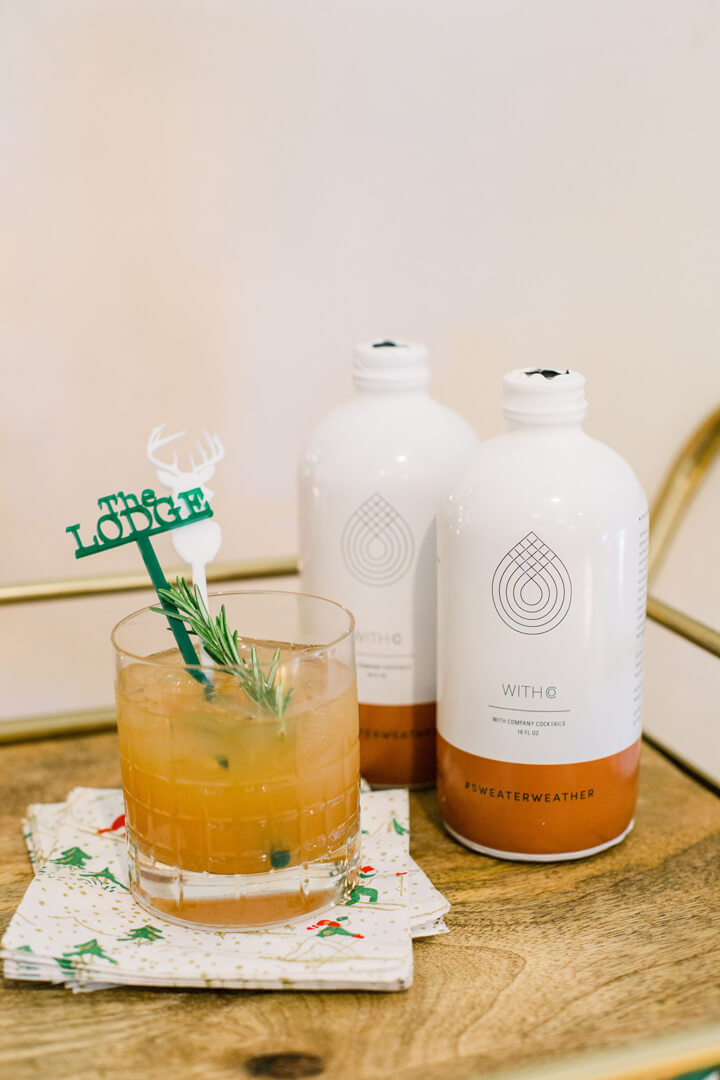 "Cocktails from ""Apres at The Lodge"" Holiday Party Styled by The Revelry Co 