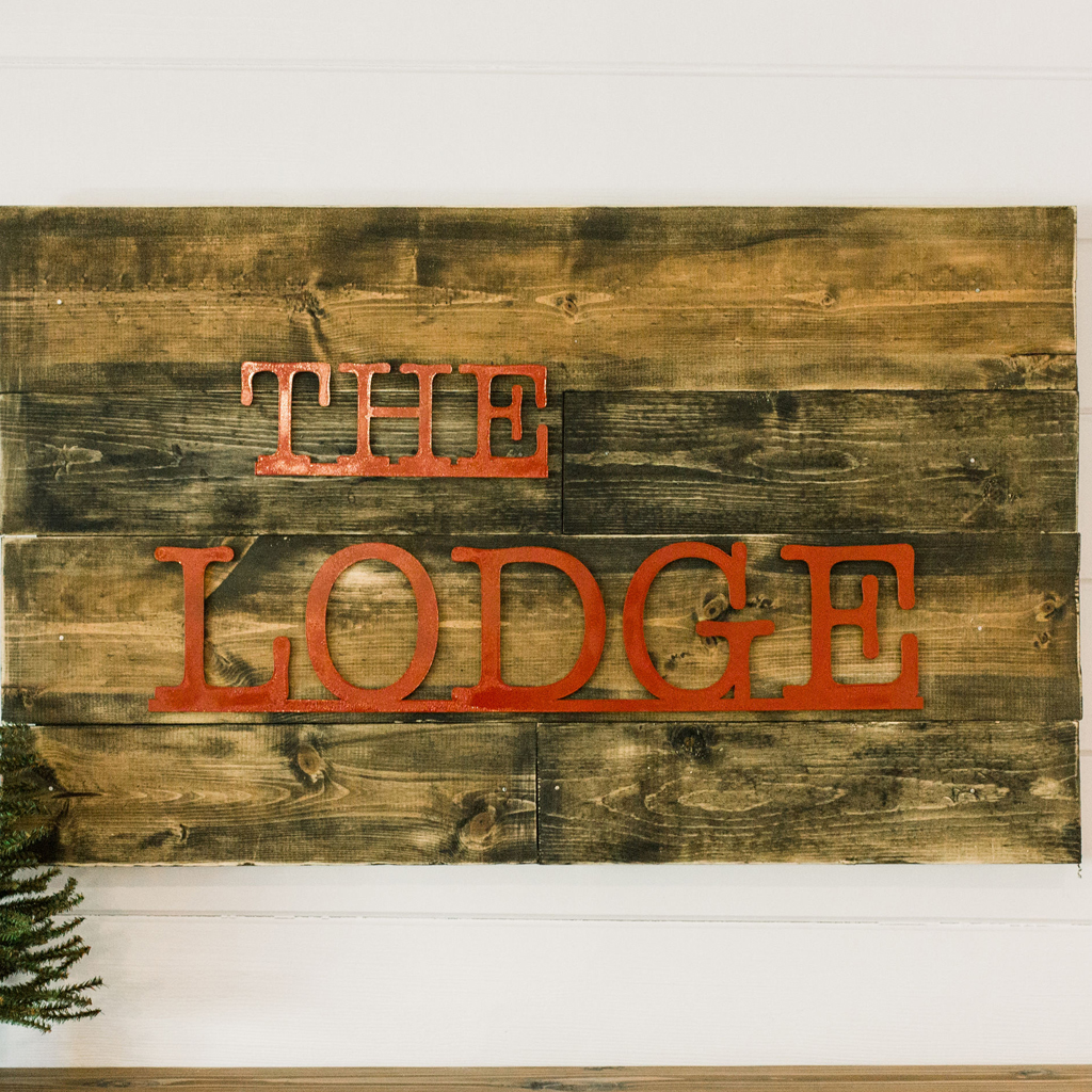 """Custom """"The Lodge"""" Sign from Creative Amme"""