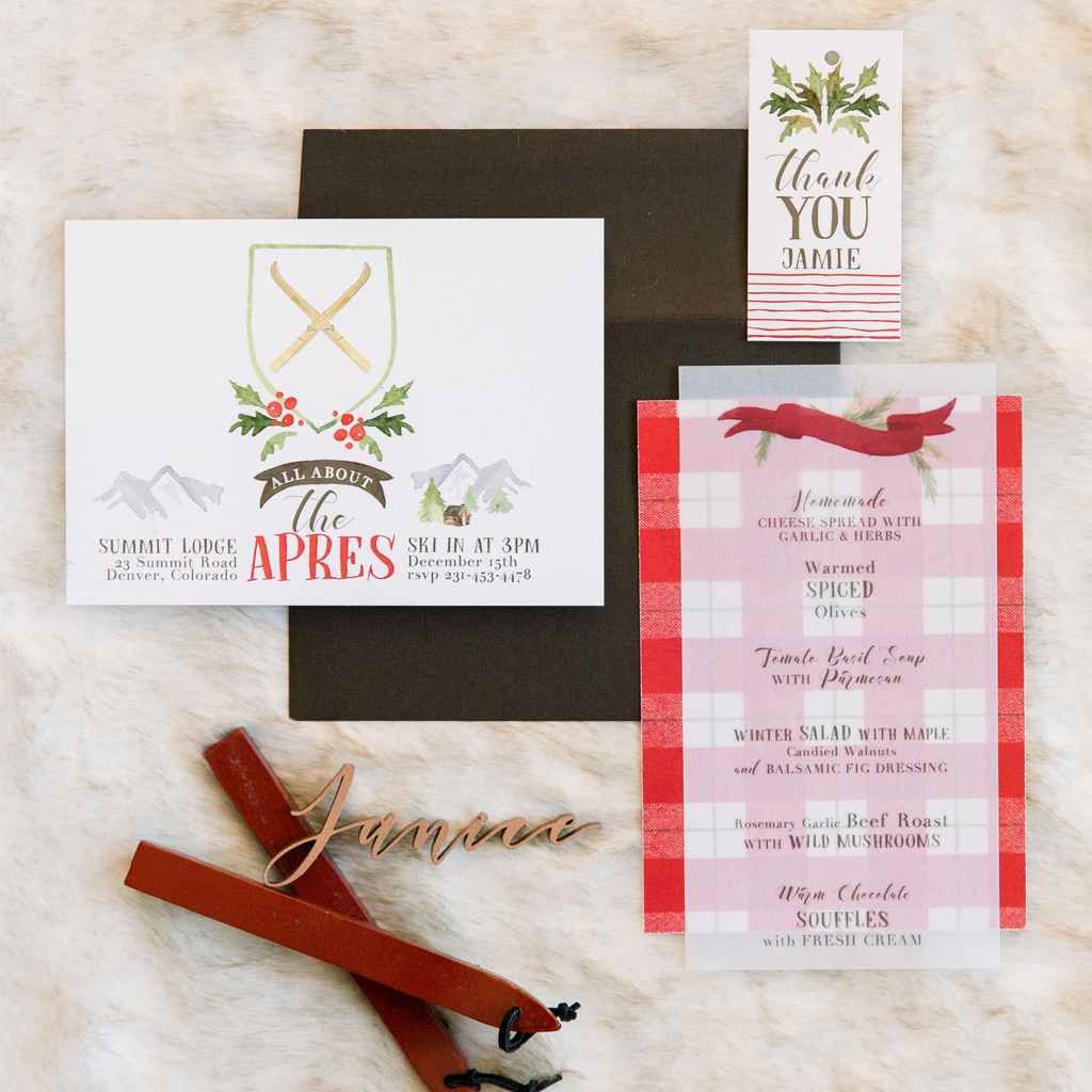 Custom Invitation, Menu, & Favor Cards from Minor Details CLE