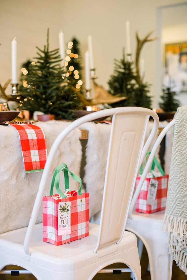 "Favor Bags from ""Apres at The Lodge"" Holiday Party Styled by The Revelry Co 
