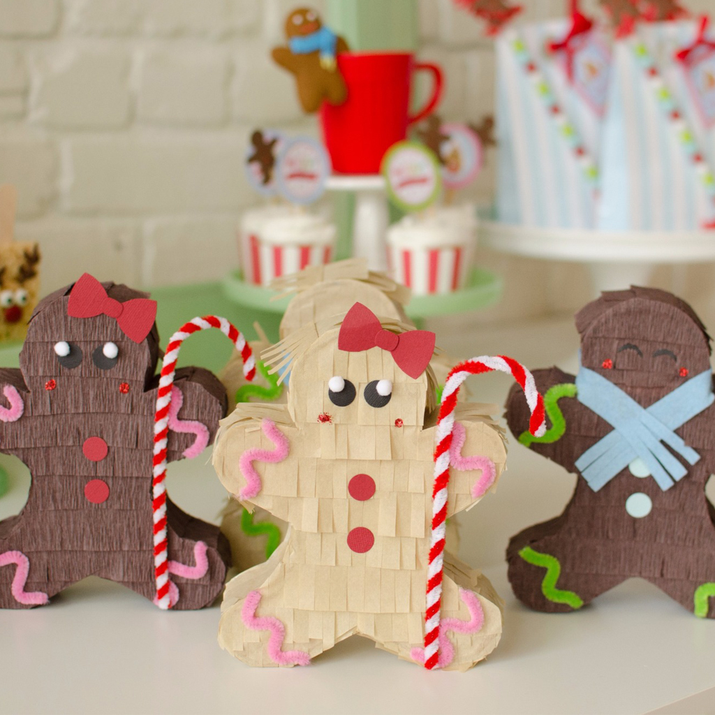Gingerbread Pinatas by Lisa Frank Parties