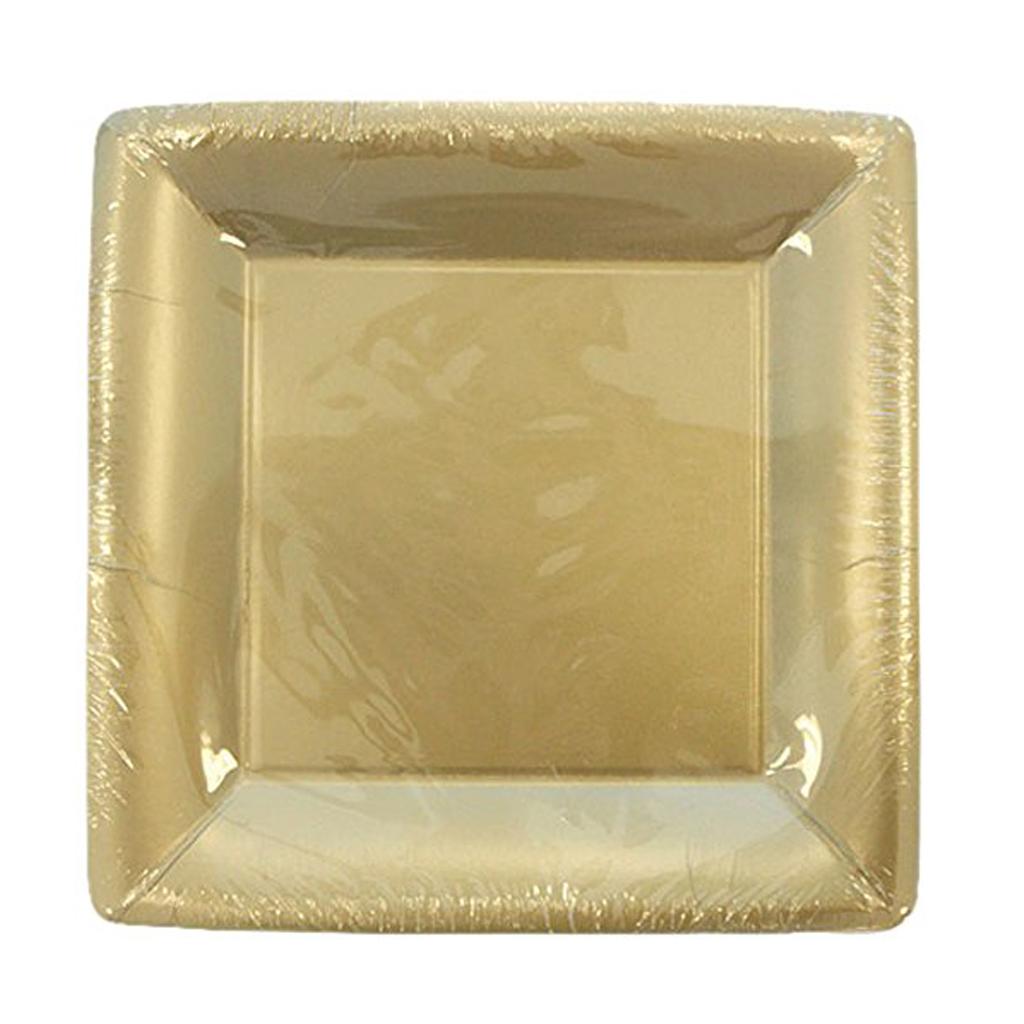 MATTE GOLD SQUARE PLATE