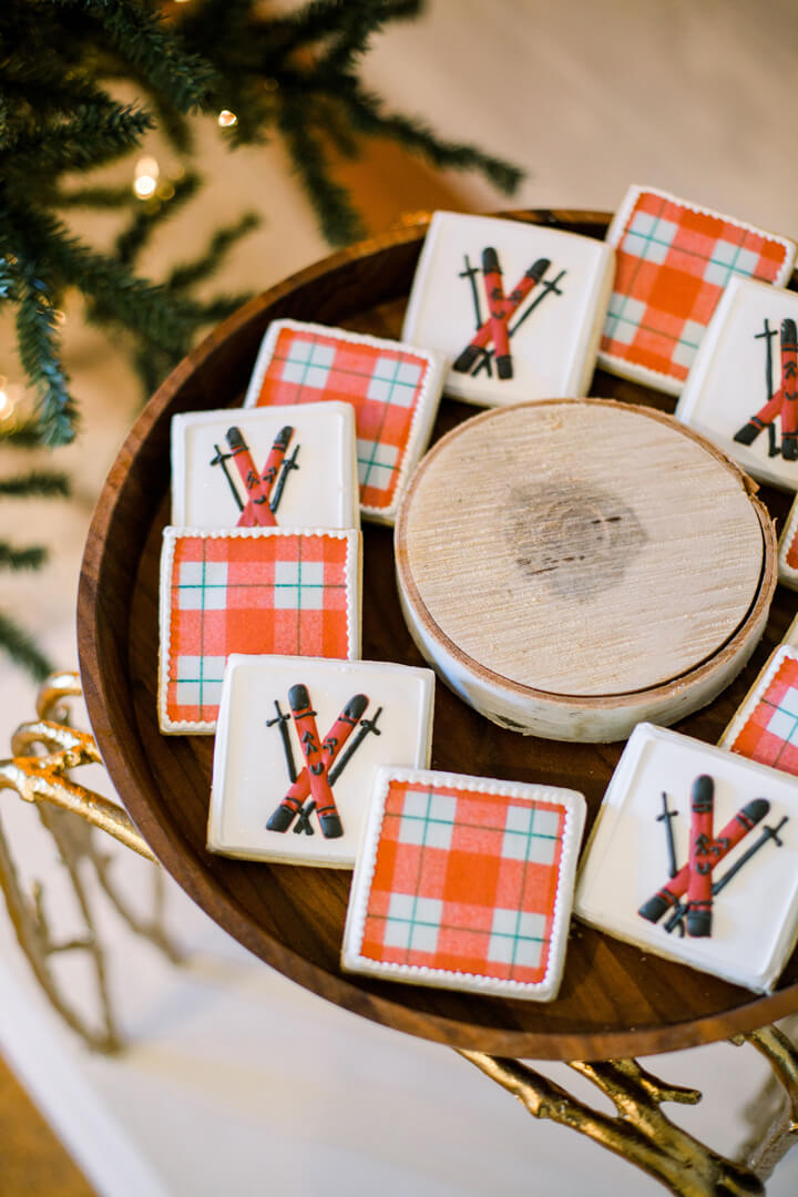 "Holiday Cookies from ""Apres at The Lodge"" Holiday Party Styled by The Revelry Co 