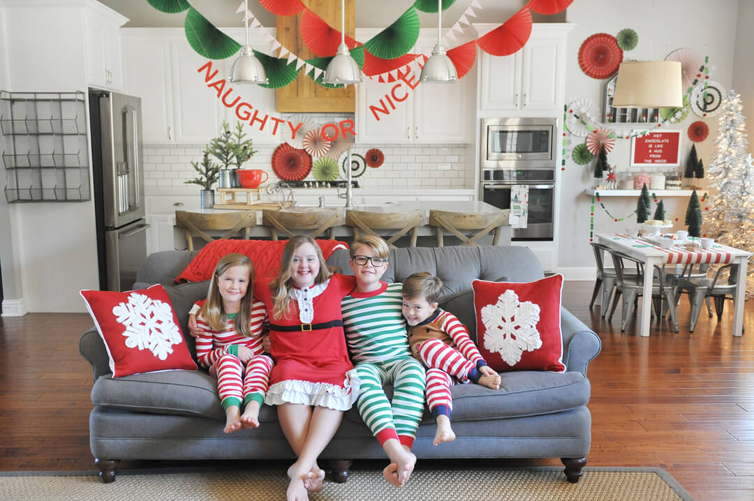 Kids' Photo from Kids' Cocoa + Pancake Christmas Breakfast Styled by Happy Wish Company | Black Twine