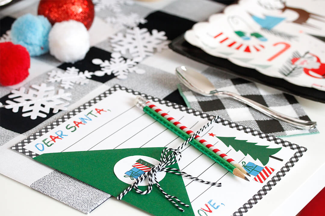 "Letter To Santa from ""Dear Santa"" Party Styled by A Lovely Design 