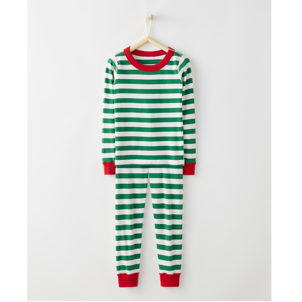 Long John Pajamas In Organic Cotton - Green from Hanna Andersson