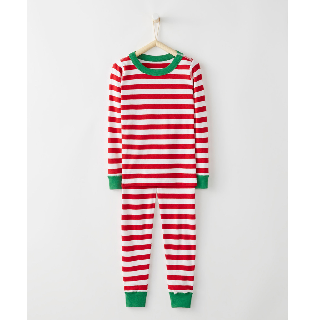 Long John Pajamas In Organic Cotton - Red from Hanna Andersson