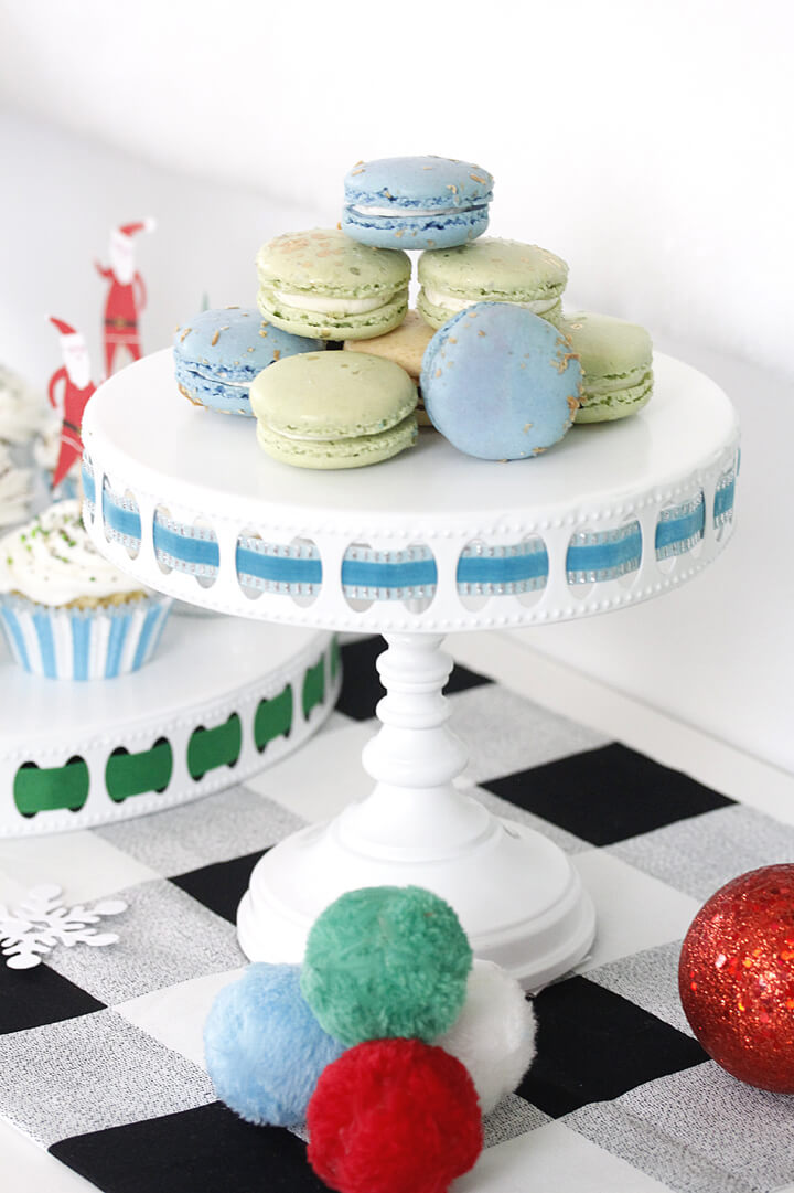 "Macarons from ""Dear Santa"" Party Styled by A Lovely Design 