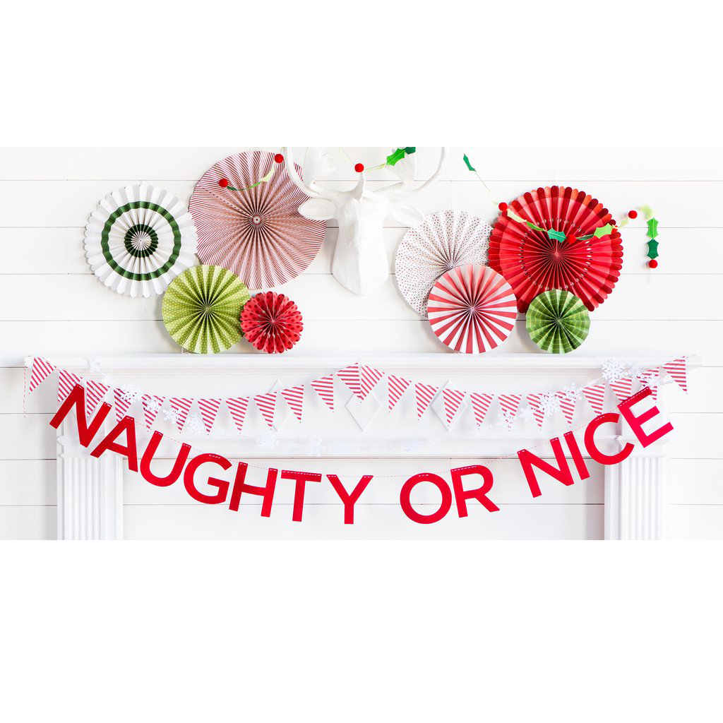 NAUGHTY OR NICE FELT BANNER from My Mind's Eye Paper Goods