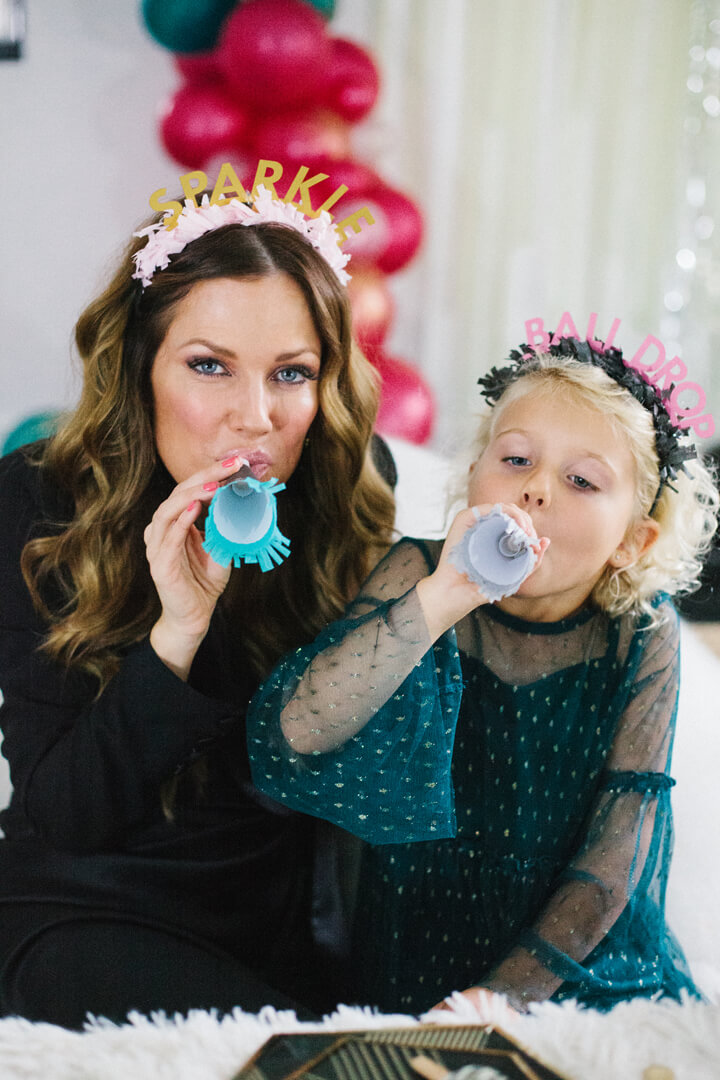 Pamelyn Rocco and Daughter from Glam, Kids-Approved NYE House Party In Collaboration with Confete Party Box, Styled by Bashery & Co. | Black Twine