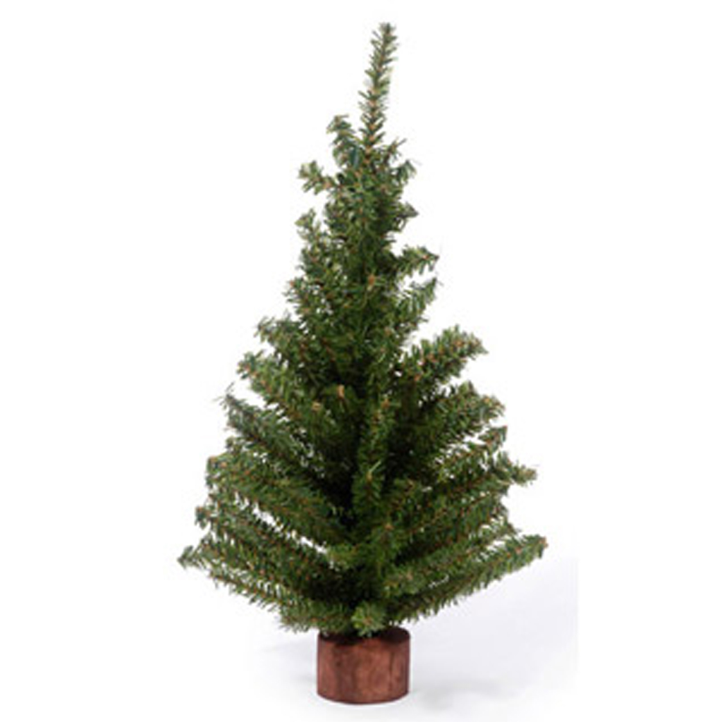 Pine Tree with Wood Base from Consumer Crafts