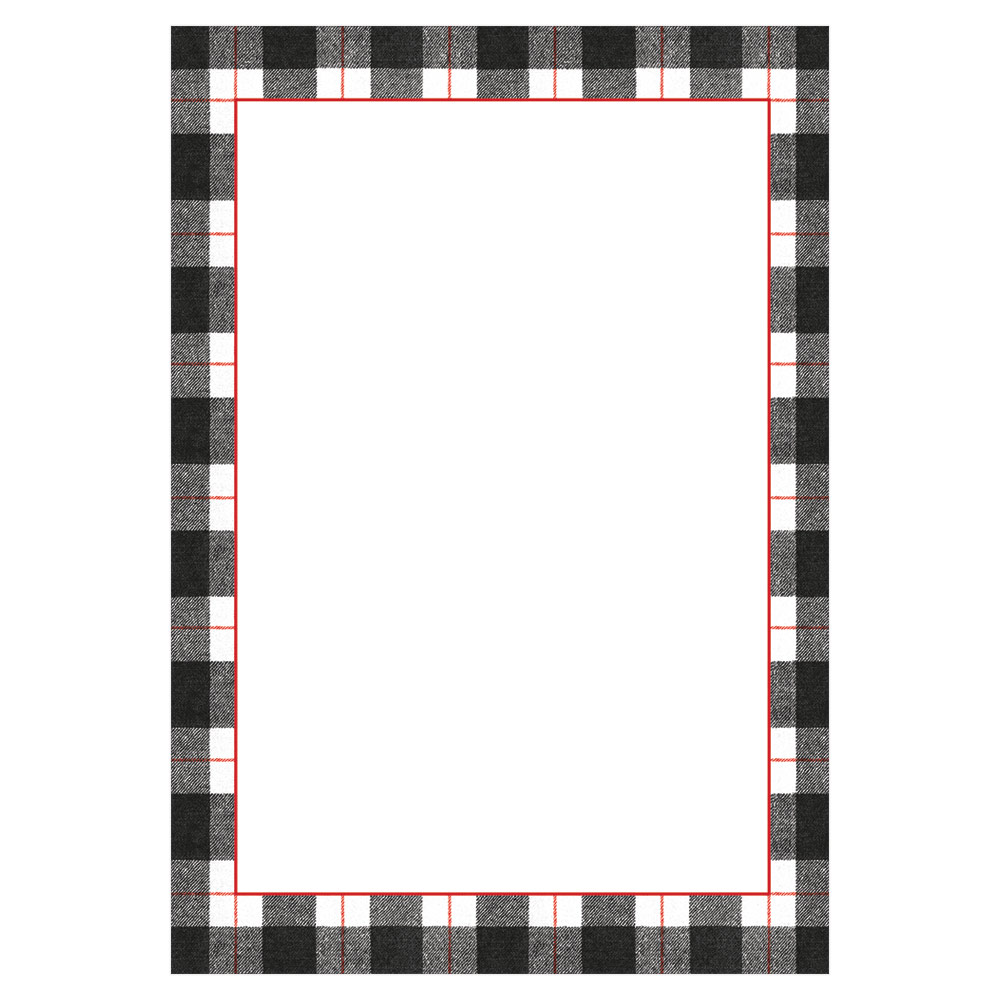 Plaid Check Invitations and Envelopes in Black from Caspari
