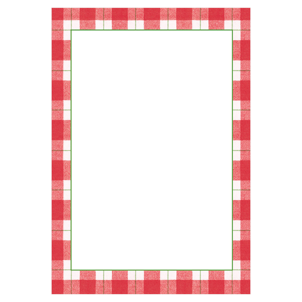 Plaid Check Invitations and Envelopes in Red from Caspari