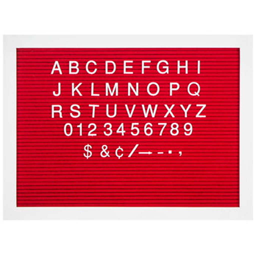 Red & White Letterboard from Hobby Lobby