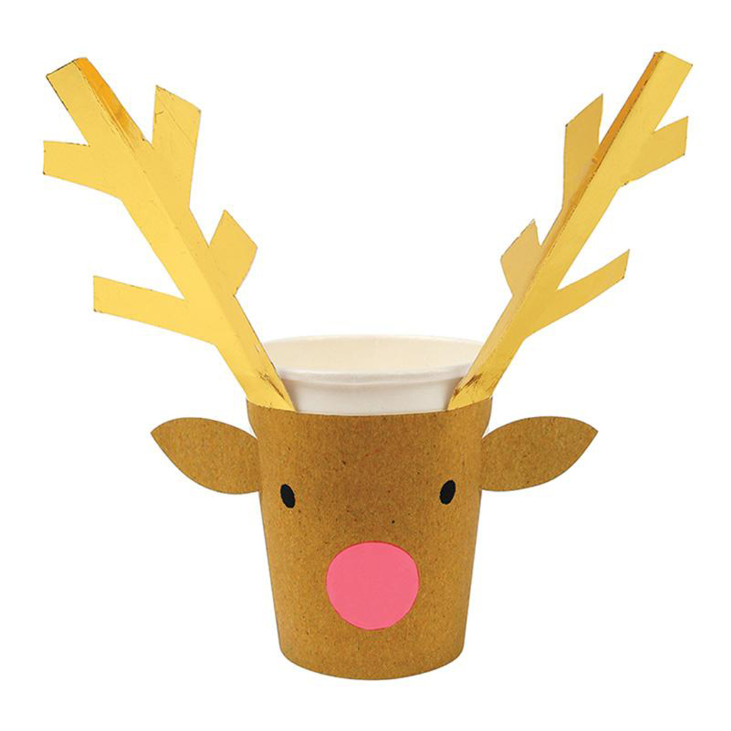 REINDEER PARTY CUPS by Meri Meri