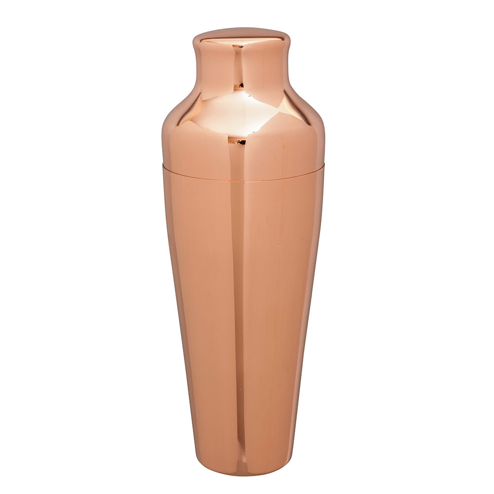 Beaumont Barware Art Deco Copper-Plated Cocktail Shaker from Caspari