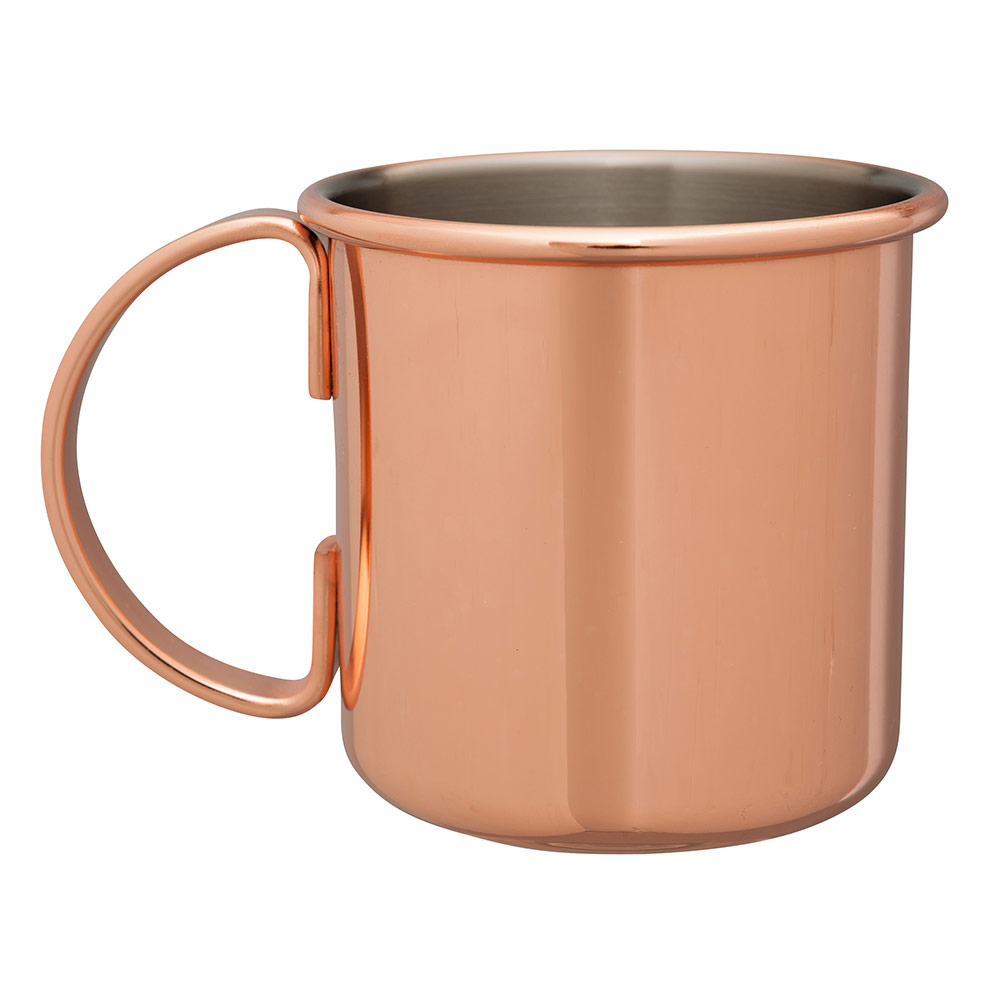 Beaumont Barware Straight Copper-Plated Moscow Mule Mug from Caspari