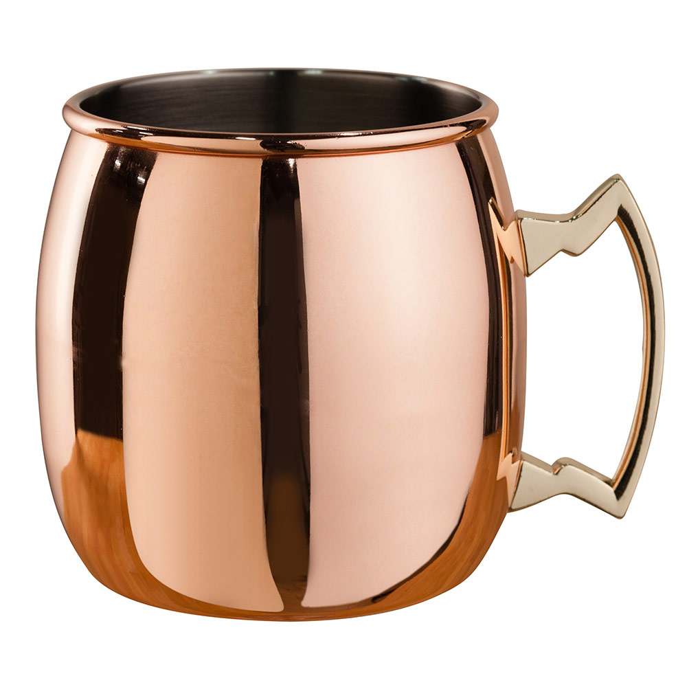 Beaumont Barware Curved Copper-Plated Moscow Mule Mug from Caspari