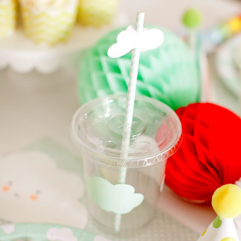 Cloud Paper Straws from Kiss Me Kate Studio