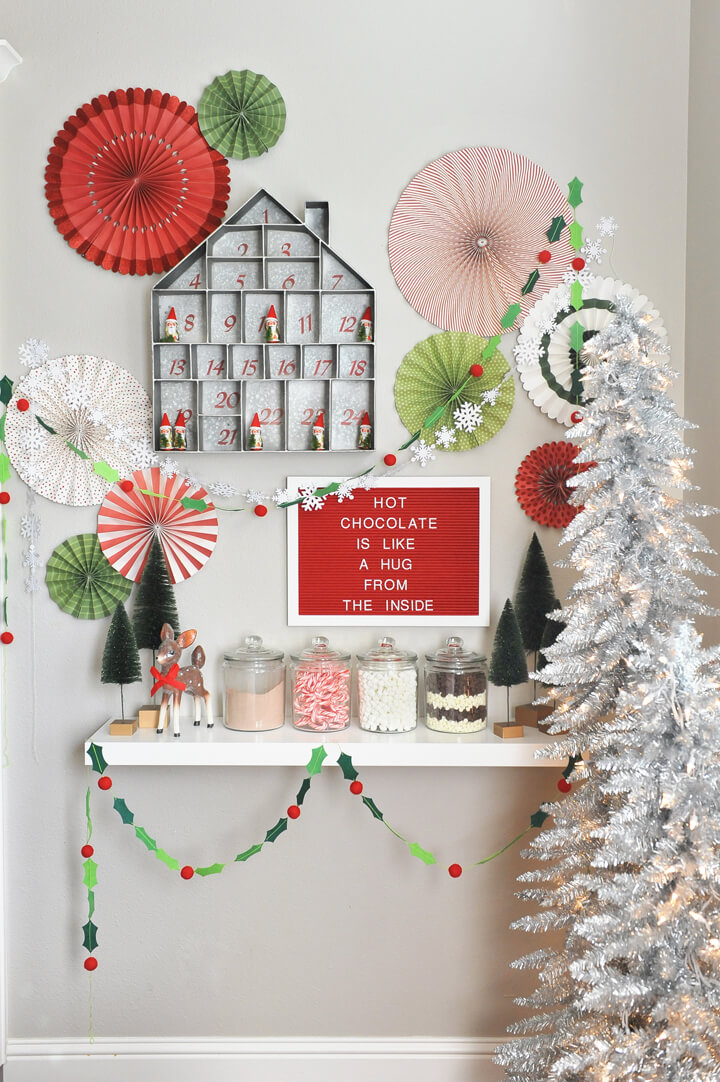 Sweets Corner from Kids' Cocoa + Pancake Christmas Breakfast Styled by Happy Wish Company | Black Twine
