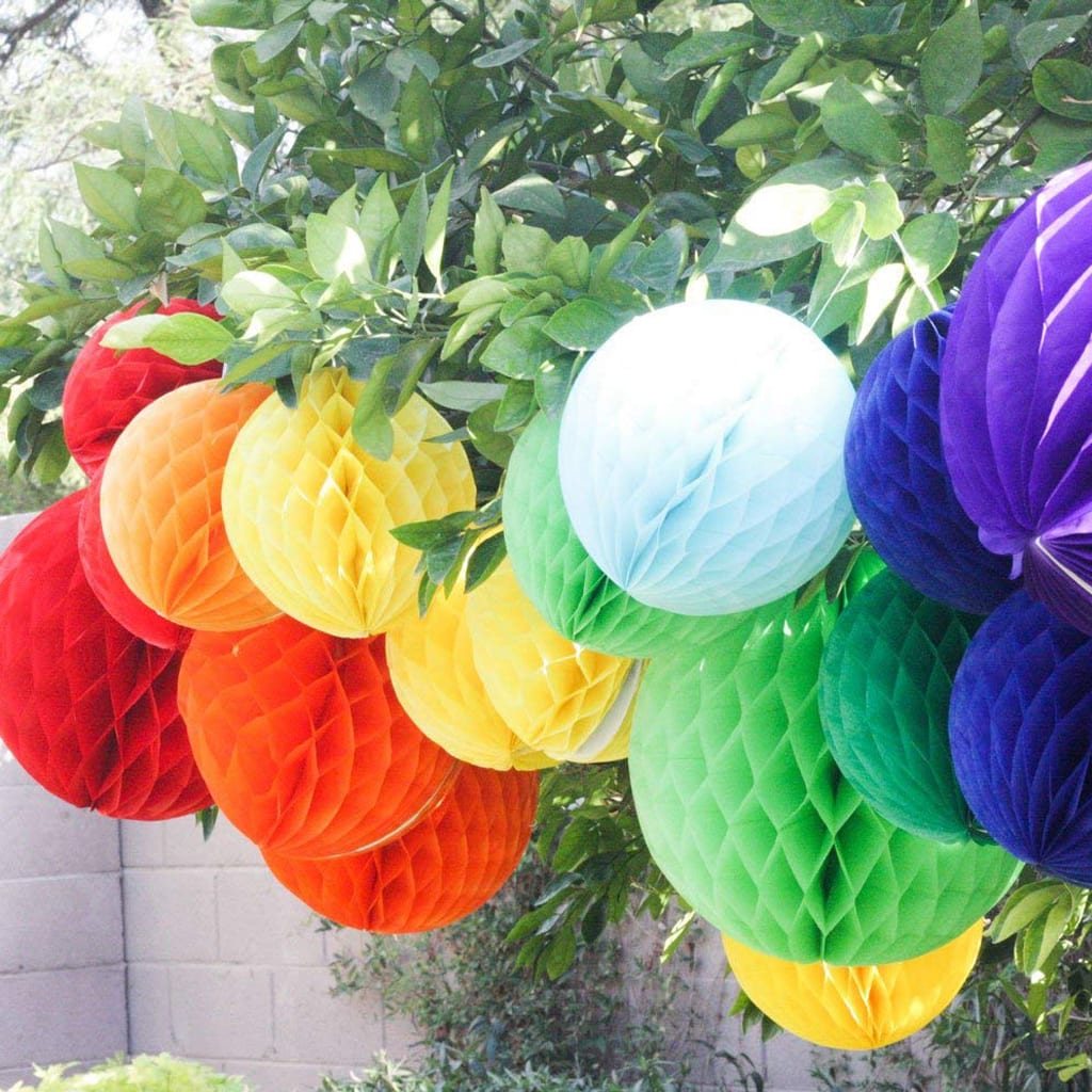 "4"" Tissue Paper Honeycomb Balls"