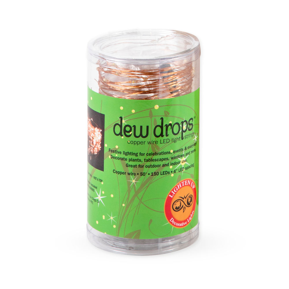 Dew Drops Copper Wire LED String Lights from Caspari