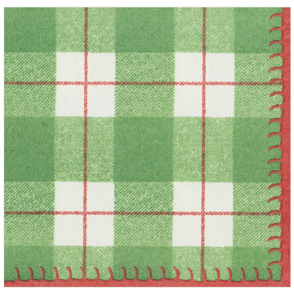 Paper Linen Dinner Napkins in Green from Caspari