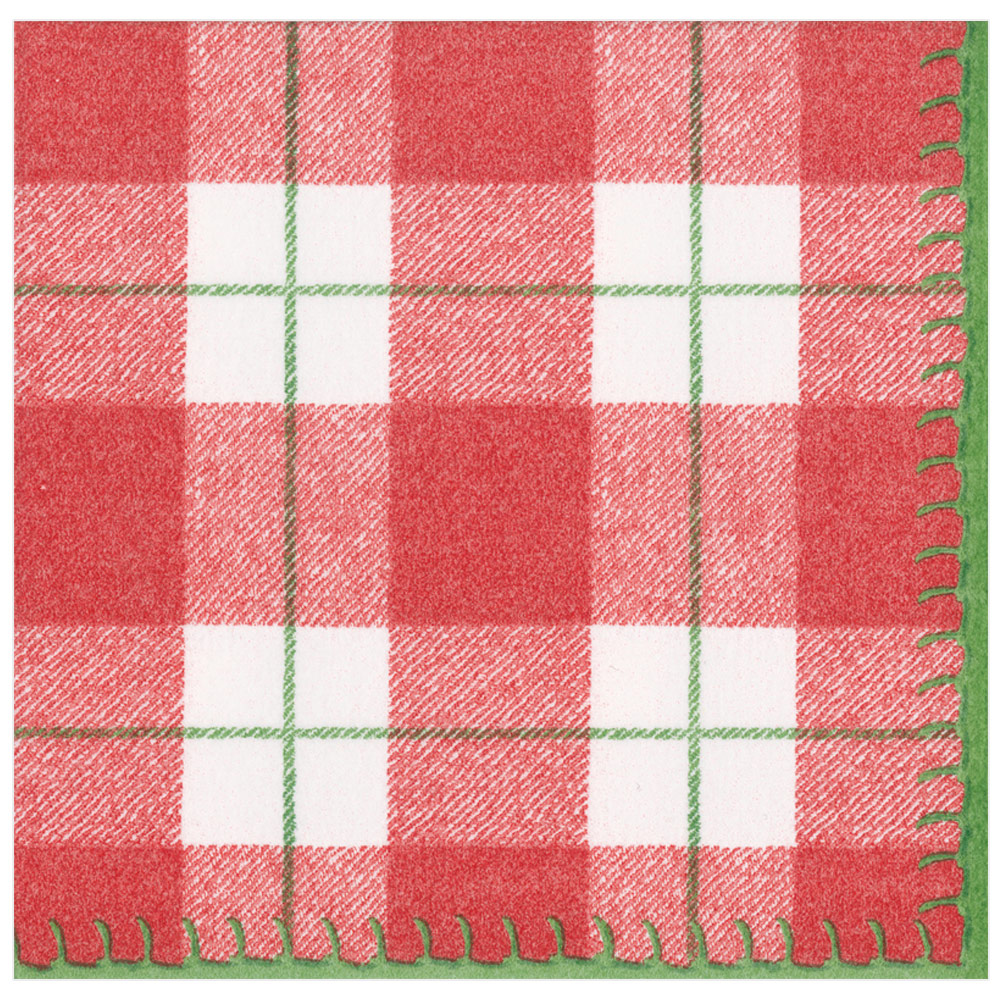 Paper Linen Dinner Napkins in Red from Caspari