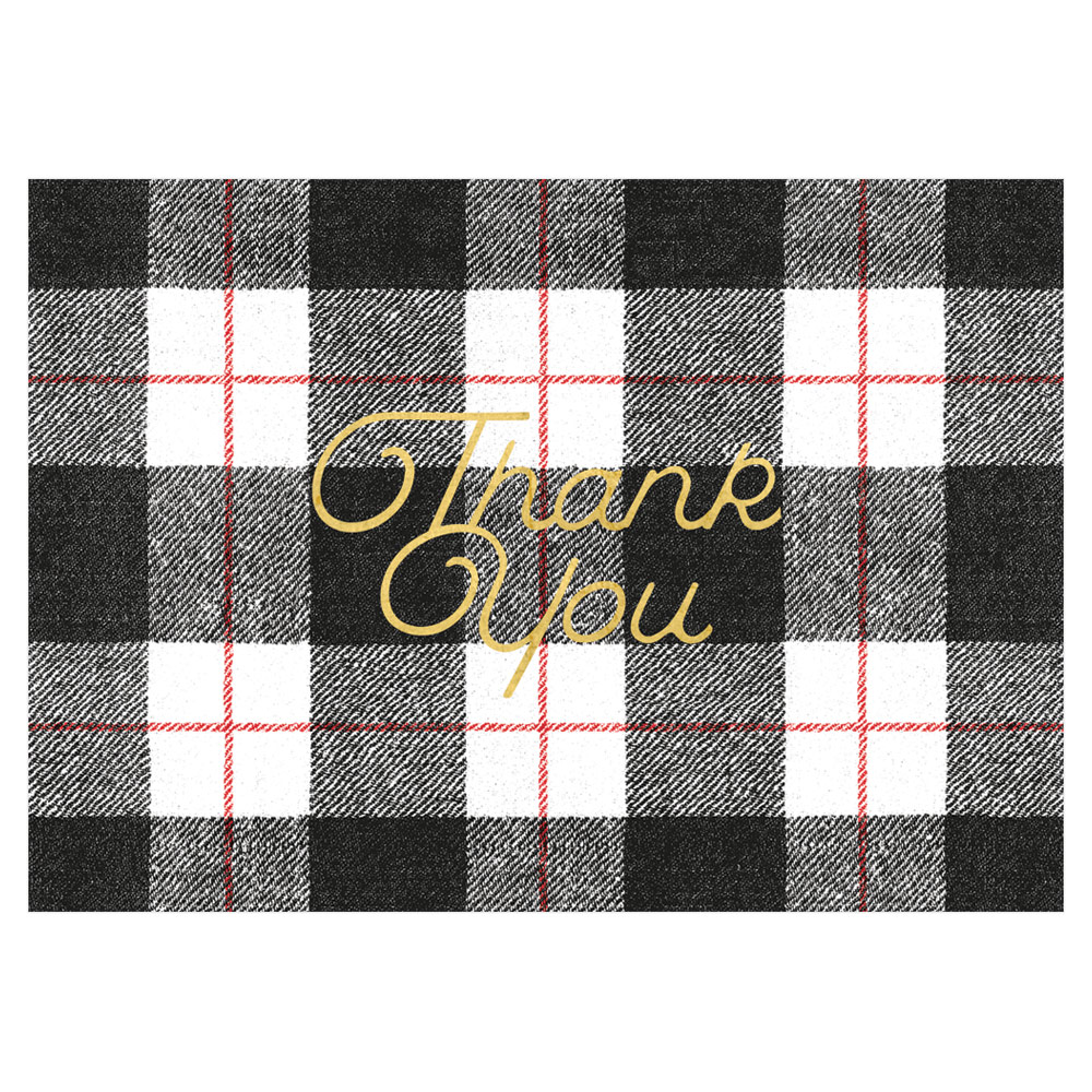 Thank You Notes in Foil - Note card and Envelope from Caspari