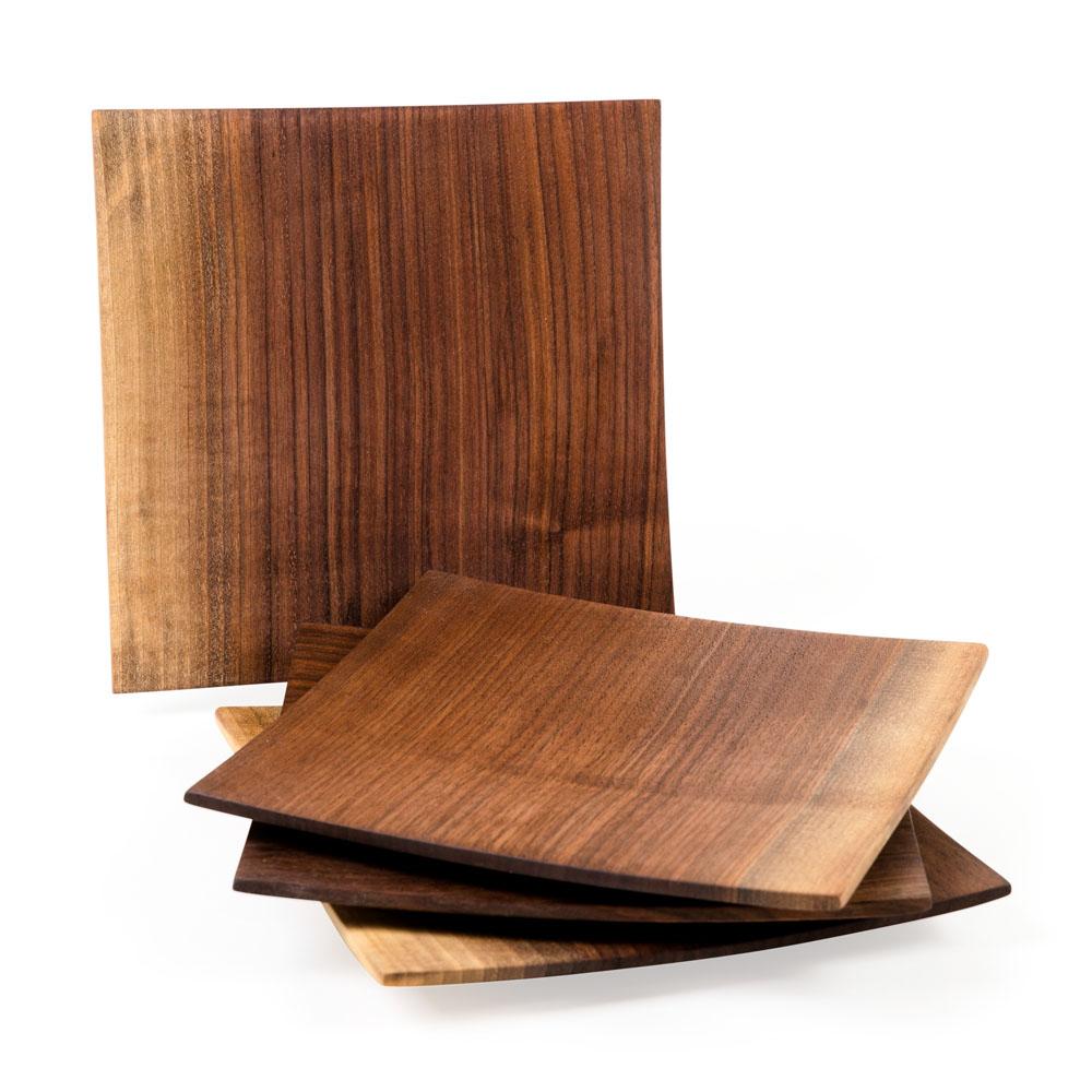 Wooden Echo Plate in Black Walnut from Caspari