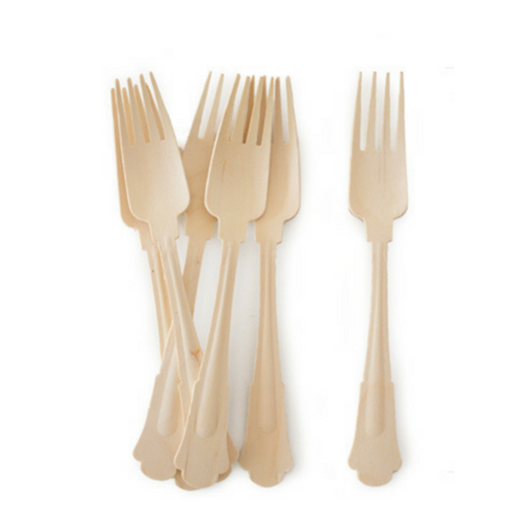 Birch Wooden Silverware from Geese & Ganders